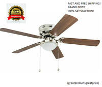 Harbor Breeze Armitage 52-in Brushed Nickel Indoor Flush Mount Ceiling Fan Best