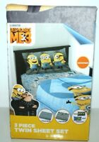 DESPICABLE ME3 MINION TWIN BED SHEET MICROFIBER  3 PIECE BEDSHEET SET
