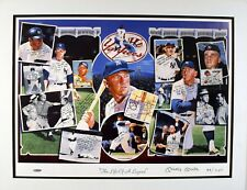 MICKEY MANTLE SIGNED AUTO AUTOGRAPH LITHO UDA UPPER DECK LITHOGRAPH MARIS 52 RC