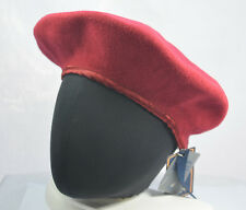 KANGOL RED SPLIT BACK BERET CAP HAT 100% WOOL 7008BC NWT NEW WITH TAGS ONE SIZE