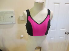 Ideology Women's Plus 40D High Impact Adjustable Sports Bra Pink 3 hook rear NWT