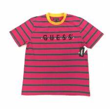 GUESS Mens Short Sleeve Basic Red Splatter Crew T-Shirt