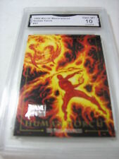 HUMAN TORCH 1992 MARVEL MASTERPIECES  # 31 GRADED 10  L@@@K