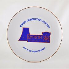 1981 Byron Generating Station 6 Nuclear Plant Advertising Plate Tour Guide