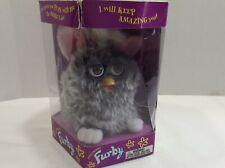 1998 Tiger Toys Furby Model 70-800 In original Box Dk Grey Brown Eyes