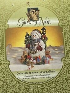 Grandeur Noel Collectible Snowman Stocking Holder