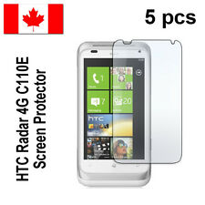 Five (5) Clear screen protectors for HTC Radar 4G C110E Free Shipping