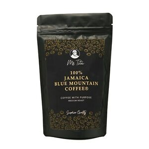 100% Pure Jamaica Blue Mountain Coffee-Ms Tita-57g Whole Bean- Roasted in the UK