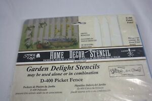 Home Decor Stencil Ease D-400 Picket Fence New in Package!