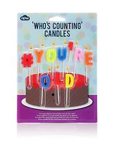 Who's Counting Candles ~ # You're Old ~ joke birthday colour cake gift NP21400