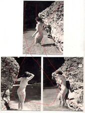 3 Fotos Nacktbilder Erotik Busen Mollige Frau (A111)