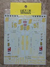Tabu Design 20102 1/20 Lotus 78 full sponsor decal 1978
