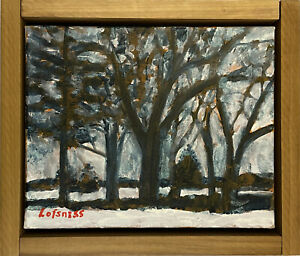 LOFSNESS Trees / Landscape / Abstract  8x10 in. OIL - w/ Frame  Free Shipping