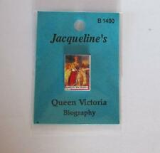 DOLLHOUSE Book Queen Victoria Biography Jacqueline B1490 Miniature 1-12 gemjane