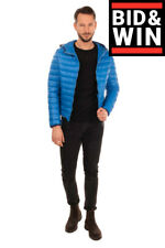 Rrp €260 Up To Be Quilted Jacket Size 50 / L Microtech Hooded Made in Italy
