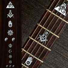 Religion Symbols Om Pyramid Fret Markers Metallic Inlay Sticker Guitar & Bass