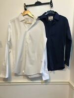 MENS HAWES & CURTIS SHIRTS X2 ST JAMES SLIM FIT SIZE 15.5 COLLAR 34 CHEST