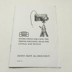 ZEISS IKON INSTRUCTIONS MANUAL-COPY-  FOR THE SPECIAL REPRODUCTION APPARATUS