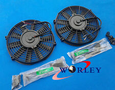 "2 pcs 12"" 12V Slim Radiator Cooling Thermo Fan + Mounting kit 12 inch universal"