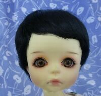 Playhouse BOB Black Full Cap Doll Wig Size 8-9 Baby, Boy or Girl, Short Bob