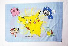 Pokemon Pillow case 1998 Nintendo Bedding Catch Em All Pikachu Standard Mint