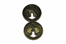 "Norse Foundry RPG D20 Adventure Coins - ""5"" Gold Piece Set of 10 - Dwarven Style"