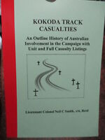 ROLL AUSTRALIAN KOKODA CASUALTIES WW2 UNITS PRESENT SHORT HISTORY BATTLE book