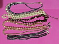 Vintage Pearled Beads for Re-Purposing/Repair -Various Colour Lustre's & Clasps