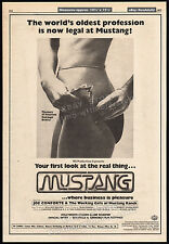 MUSTANG (RANCH) The House That Joe Built__Original 1977 Cannes Trade AD / poster