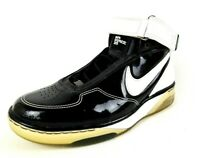 Nike Air Force 25 GS Boys Shoes 316878 011 Basketball Black White Leather SZ 7Y