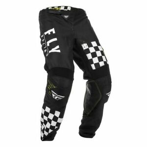 Motocross MX Pantaloni > Fly 2020 Rockstar Kinetic Ducato Pont - Nero/Bianco