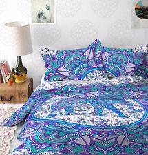 Indian Elephant Mandala Duvet Doona Cover Cotton Queen Size Bedding Quilt Cover