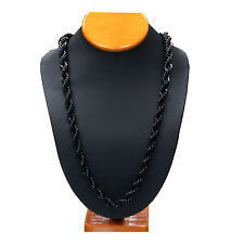 "Mens Dookie 14K Gold,Silver,Black Plated Steel Necklace Rope Chain 10mm 30"" Inch"