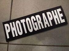 GRAND DOSSARD A SCRATCH  BACK SIDE 30x10cm env PHOTOGRAPHE IDEAL GILET TACTIC