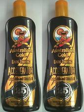 LOT OF 2 - Australian Gold Dark Accelerator Lotion Indoor / Outdoor Sun Tan