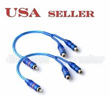 2X RCA Y-Splitter Car Audio Home Theatre Cable one male to two female Y-2F