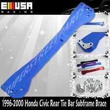 EMUSA 1996-2000 Honda Civic Rear Tie Bar Subframe Brace EK LX DX EX SI  BLUE