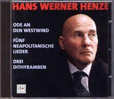 HENZE Ode an den Westwind Dithyramben SKROWACZEWSKI CD Neapolitanische Lieder
