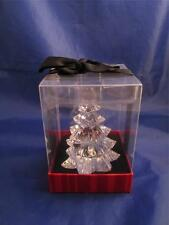 "Clear Acrylic 3 1/2"" Tall Holiday Christmas Tree Figurine Decoration NIB"
