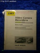 Sony Bedienungsanleitung CCD FX730VE /FX830VE Video 8 Camera Recorder (#3363)