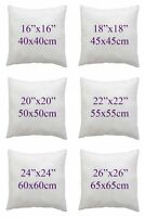 "HollowFiber Cushion Pad Insert Filler Inner Cushions Filling ""16""18""20"" 22"" 24"""