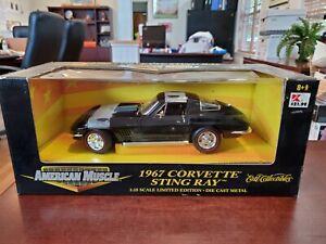 1967 Corvette Sting Ray Black/ Blue 1:18 American Muscle ERTL DieCast