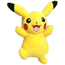 "Pokemon Pikachu 7"" Tall Happy Raising Hands Stuffed Animal Soft Plush Toy Usa"