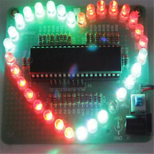 Bausatz: Farbenfrohes LED Herz Heart DIY Elektronik Kit zum Löten Valentinstag