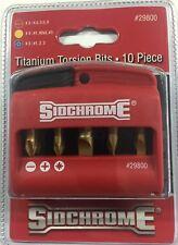 SIDCHROME TITANIUM TORSION BITS 10 PIECE # 29800