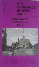 Old Ordnance Survey Detailed Maps Wandsworth & SW Battersea London 1913 S114 New