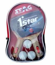 Table Tennis Sports Play Set- 2 Racquets / Bats and 3 Balls- 1 Star