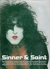 KISS Paul sinner & saint magazine PHOTO / mini Poster 11x8 inches