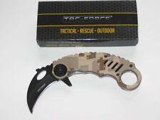 TAC-force Karambit cuchillo Desert camo pinzamiento con assisted opening nuevo/en el embalaje original