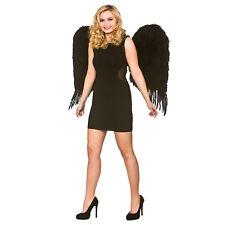 Deluxe grandi ali di piume-Nero Costume Accessorio per Cosplay